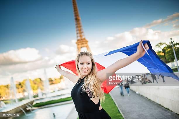 Liberté touristiques à paris avec la tour Eiffel