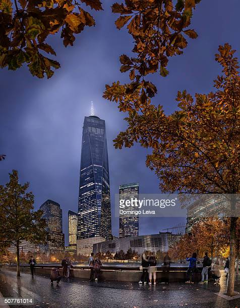 Freedom tower at night, New York City