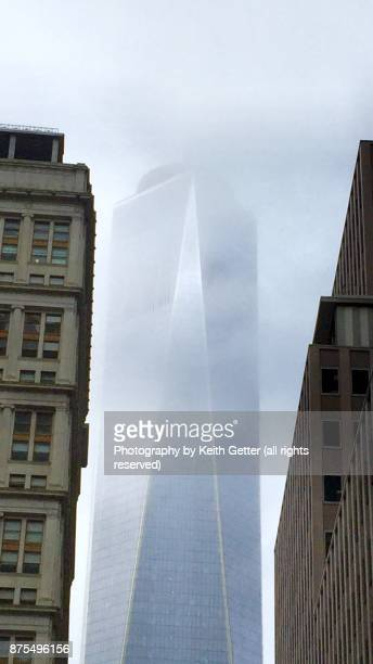 Freedom Tower NYC Shining Through Clouds