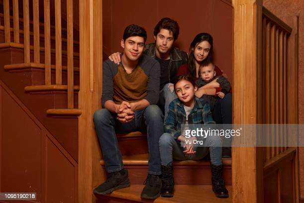 FIVE Freefom's Party of Five stars Niko Guardado as Beto Buendia Brandon Larracuente as Emilio Buendia Elle Paris Legaspi as Valentina Buendia and...