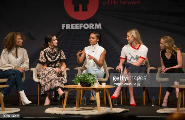 FREEFORM Freeform Disneys young adult television network hosted their first ever 'Freeform Summit' today Jan 18th in Hollywood featuring panel...