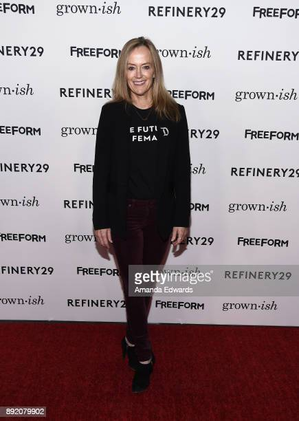 Freeform Executive Vice President of Programming and Development Karey Burke arrives at the premiere of ABC's 'Grownish' on December 13 2017 in...