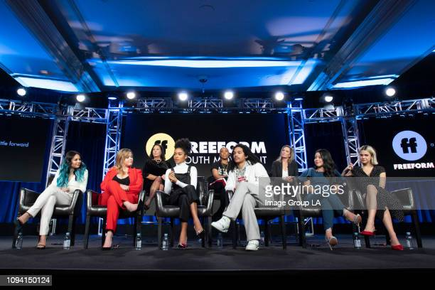"Freeform kicked off the 2019 TCA Winter Press tour with their Freeform Youth Movement panel including EPs and cast from ""Good Trouble,"" ""grown-ish""..."