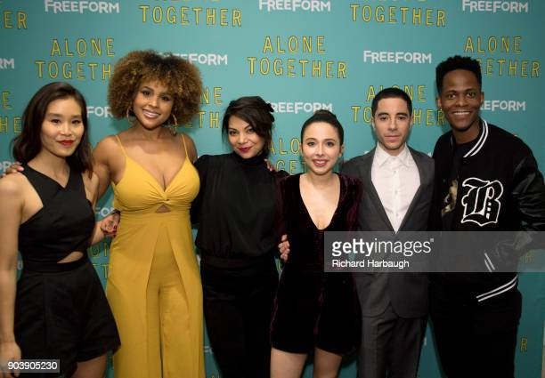 TOGETHER Freeform's Alone Together premiere screening at The London hotel in West Hollywood Calif featuring stars and cocreators Esther Povitsky and...
