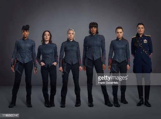 SALEM Freeform's Motherland Fort Salem stars Demetria McKinney as Anacostia Amalia Holm as Scylla Taylor Hickson as Raelle Collar Ashley Nicole...