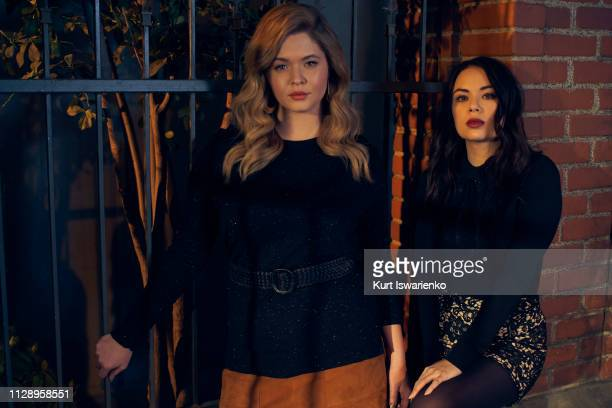 PERFECTIONISTS Freeform's Pretty Little Liars The Perfectionists stars Sasha Pieterse as Alison and Janel Parrish as Mona