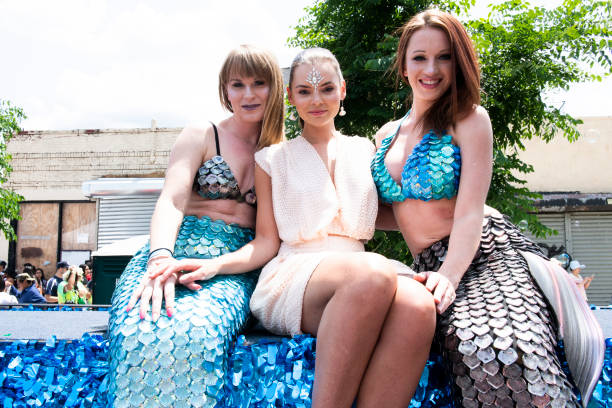 "NY: Freeform's ""Siren"" Star Eline Powell At The 37th Annual Mermaid Parade"