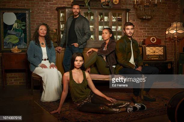 "Freeform's ""Siren"" stars Rena Owen as Helen, Ian Verdun as Xander McClure, Eline Powell as Ryn, Fola Evans-Akingbola as Maddie Bishop, and Alex Roe..."