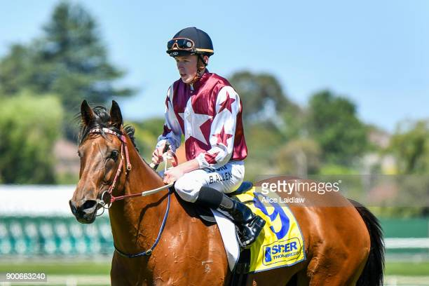 Freehearted ridden by Ben Allen returns to scale after winning the Spicer Thoroughbreds Handicap at Ladbrokes Park Lakeside Racecourse on January 03...