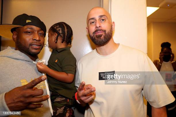 Freekey Zekey and Ghazi Shami attend Verzuz: The Lox Vs Dipset at Madison Square Garden on August 03, 2021 in New York City.