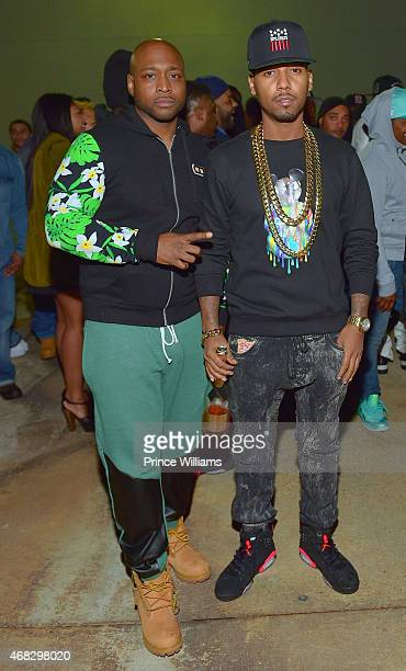 Freekey Zekey and Juelz Santana of the group 'The Diplomats' attend the Dipset Reunion at Compound on March 28, 2015 in Atlanta, Georgia.