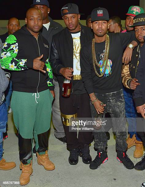 Freekey Zekey, Cam'ron, Juelz Santana, Chubbie Baby of the group 'The Diplomats' attend the Dipset Official Reunion Compound on March 28, 2015 in...
