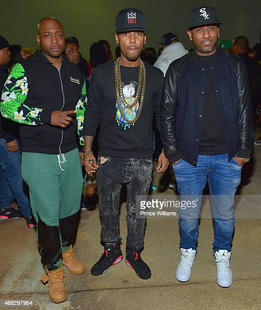 Freekey Zekey, Juelz Santana of the group 'The Diplomats' and Alex Gidewon attend the dipset Official Reunion at Compound on March 28, 2015 in...
