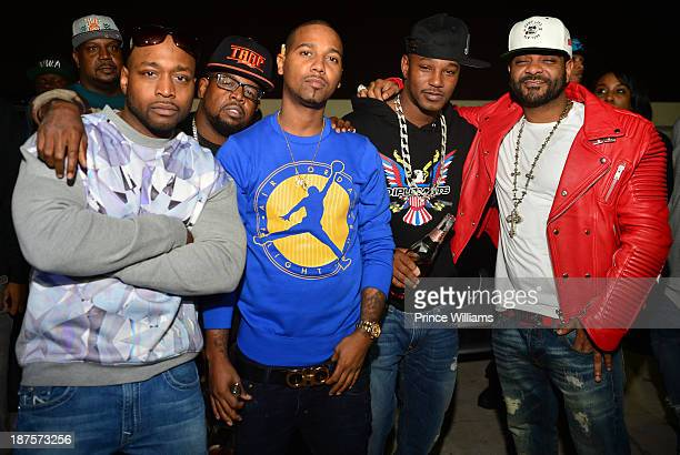Freeky Zeeky Chubbie Baby Juelz Santana Camron and Jim Jones attend the Dipset Reunion at Compound on November 9 2013 in Atlanta Georgia