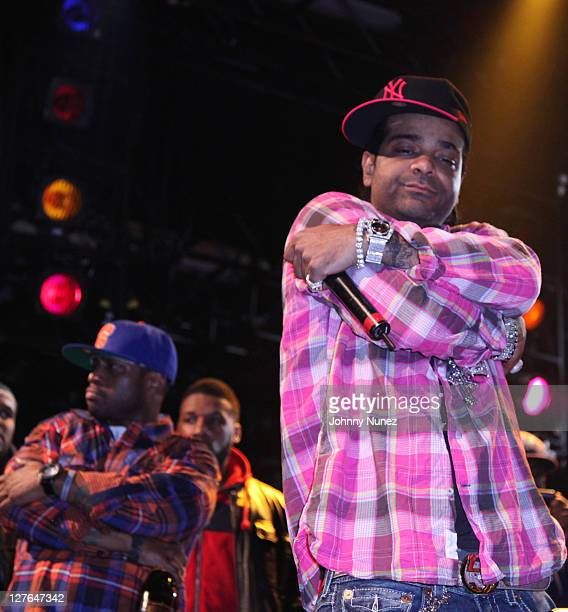 Freeky Zekey and Jim Jones of The Diplomats perform at Best Buy Theatre on March 26, 2011 in New York City.