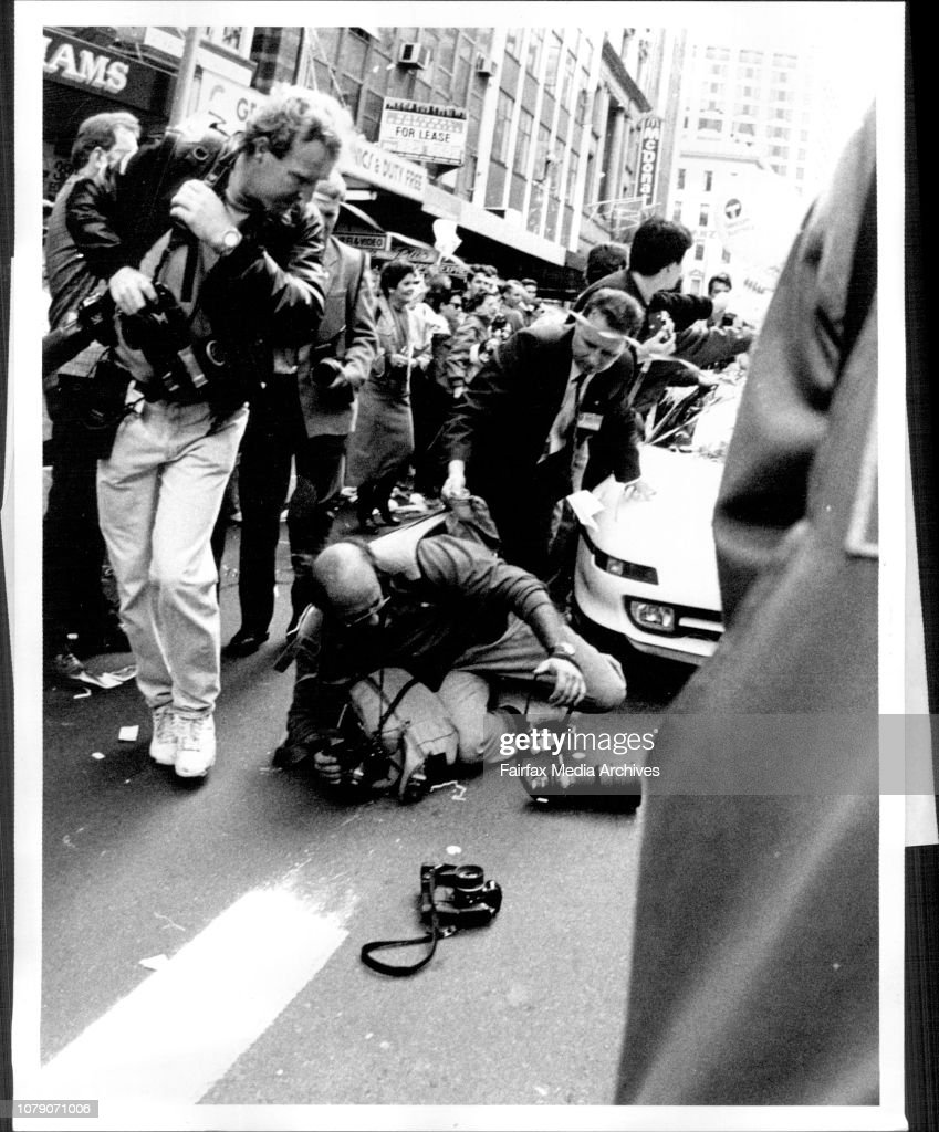Freelance photographer Gilbert Rossi comes to grief in front
