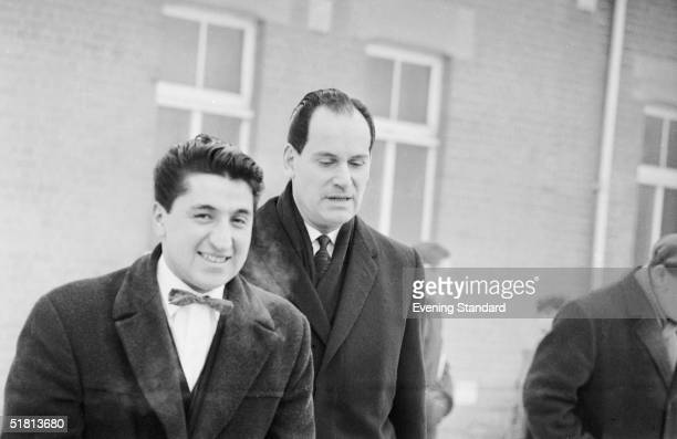 Freelance photographer Ray Bellisario with his solicitor David Jacobs 24th January 1963 after a court summons was issued against Bellisario for...