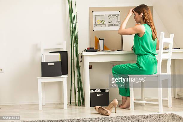 Trabalho de freelancer em casa escritório