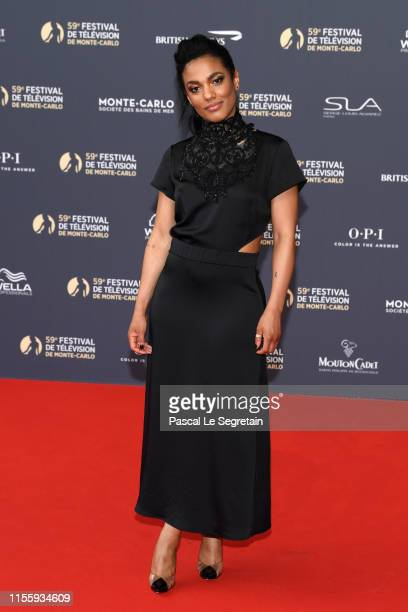 Freema Agyeman attends the opening ceremony of the 59th Monte Carlo TV Festival on June 14 2019 in MonteCarlo Monaco