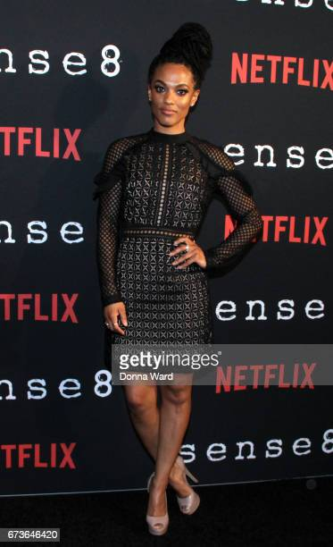 Freema Agyeman attends the Sense8 New York Premiere at AMC Lincoln Square Theater on April 26 2017 in New York City