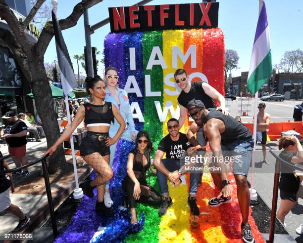 Freema Agyeman Jamie Clayton Tina Desai Miguel Angel Silvestre Brian J Smith and Toby Onwumere are seen on the Netflix original series Sense8 float...