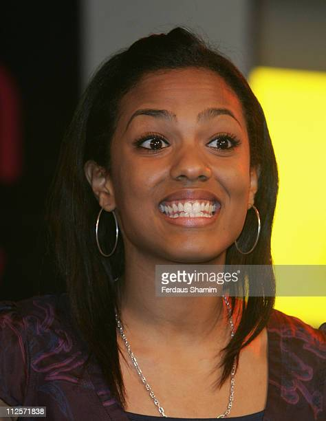 Freema Agyeman poses at a photocall at the launch of the Doctor Who The Complete Series Three' DVD Box Set at HMV London England on November 5 2007