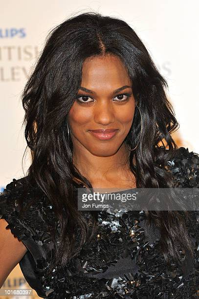 Freema Agyeman poses in the press room at the Philips British Academy Television Awards at London Palladium on June 6 2010 in London England