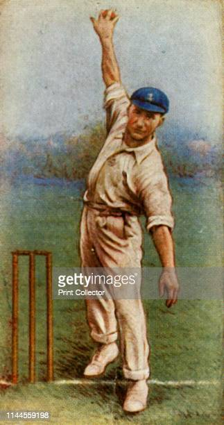 """Freeman ', 1928. From """"Wills's Cigarettes - A Series of 50 Cricketers, 1928"""", [W. D. & H. O. Wills, London, 1928]. Artist Unknown."""