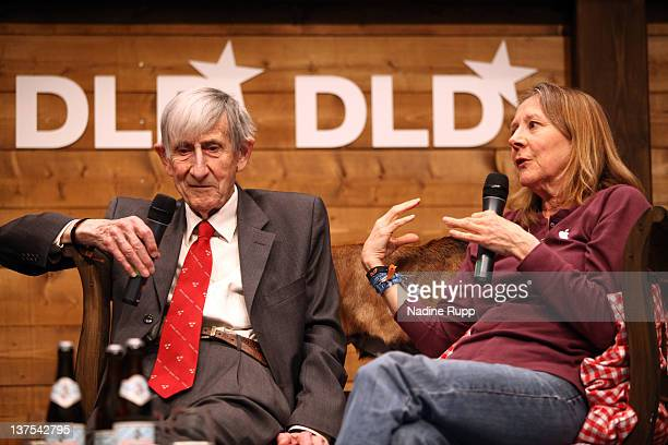 Freeman Dyson and Esther Dyson speak during the Digital Life Design conference at HVB Forum on January 22 2012 in Munich Germany DLD is a global...