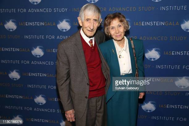 Freeman Dyson and Imme Dyson attend IAS Einstein Gala honoring Jim Simons at Pier 60 at Chelsea Piers on March 14 2019 in New York City