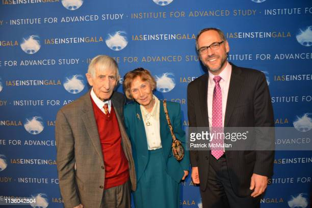 Freeman Dyson Imme Dyson and Adam Falk attend IAS Einstein Gala honoring Jim Simons at Pier 60 at Chelsea Piers on March 14 2019 in New York City