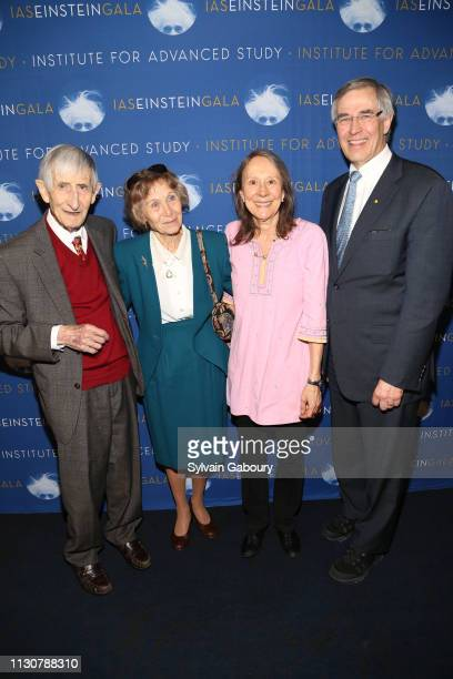 Freeman Dyson Imme Dyson Esther Dyson and Congressman Rush Holt attend IAS Einstein Gala honoring Jim Simons at Pier 60 at Chelsea Piers on March 14...