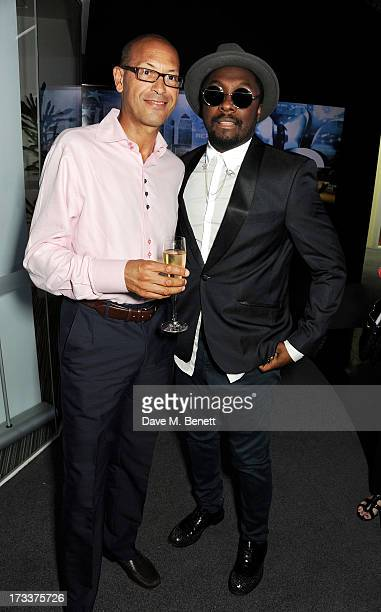 FreemantleMedia CEO David Ellender and will.i.am attend a party hosted by will.i.am and David Rowan to celebrate their co-curation of the August...