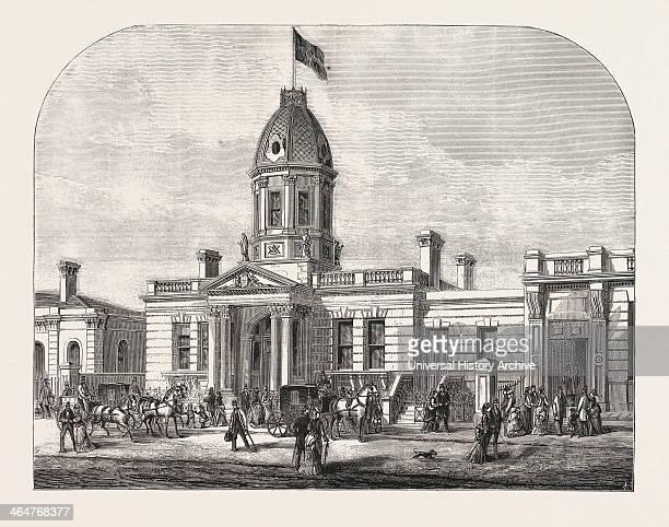 New Masonic Hall Camberwell Engraving 1876 UK Britain British Europe United Kingdom Great Britain European