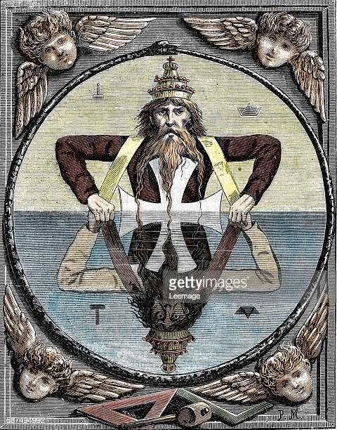 The Great Symbol of Salomon This symbol is used to teach the two principles of the divinity to new members of freemasonry It shows the two old men of...