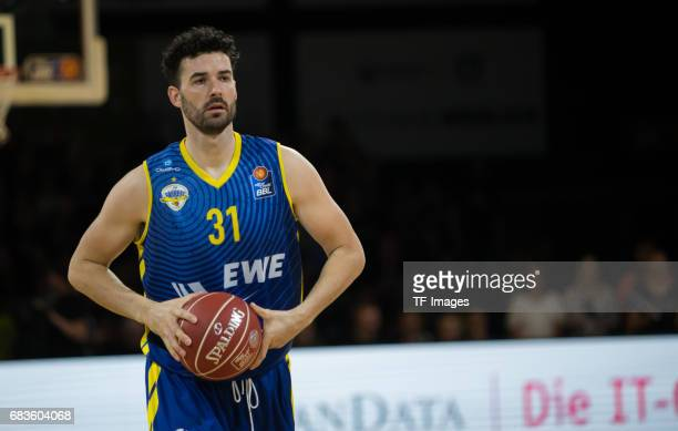 Freese jannik of Oldenburg looks on during the easyCredit BBL match between medi bayreuth and EWE Baskets Oldenburg at Oberfrankenhalle on May 5 2017...