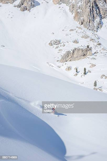freeski - alta badia stock pictures, royalty-free photos & images