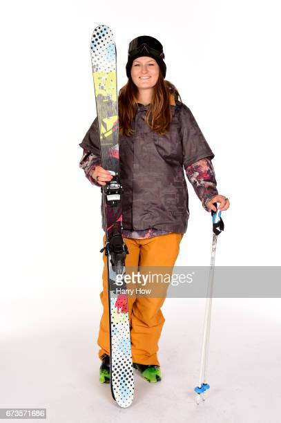 Freeskier Devin Logan poses for a portrait during the Team USA PyeongChang 2018 Winter Olympics portraits on April 26 2017 in West Hollywood...