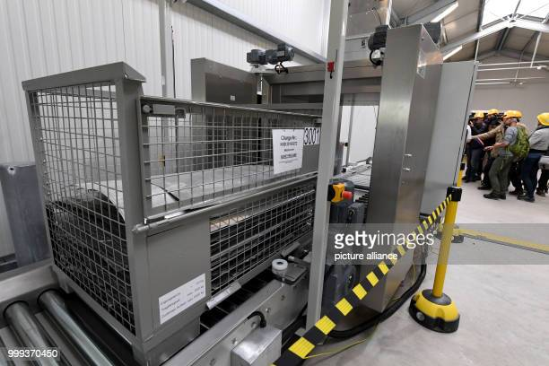 A freestanding system for material which reaches the outside of the power station being presented in the Brunsbuttel nuclear power plant in...
