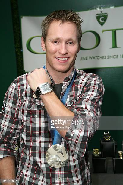 Freestyle aerials silver medalist Jeret Speedy Peterson at Backstage Creations Celebrity Retreat at Haven360 at Andaz Hotel on March 5 2010 in West...