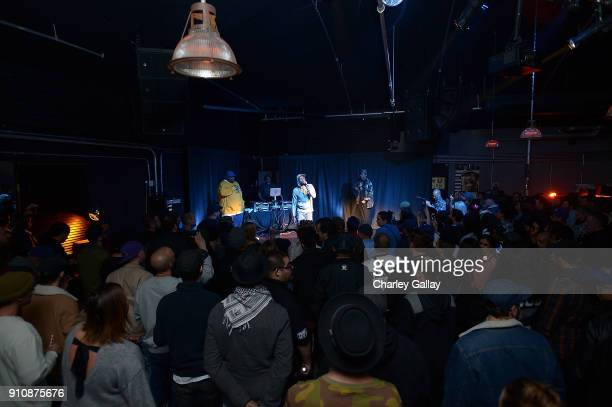 Freestyle Fellowship performs at ALAC MUSIC SERIES @ ZEBULON Freestyle Fellowship at Zebulon on January 26 2018 in Los Angeles California