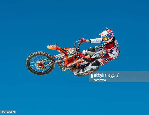 fmx freestyle moto cross at freestyle.ch 2014 in zurich - freestyle stock pictures, royalty-free photos & images