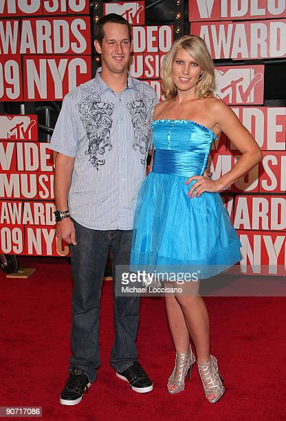 Freestyle Rider Jim DeChamp and Motocross Racer Jolene Van Vugt arrive at the 2009 MTV Video Music Awards at Radio City Music Hall on September 13...
