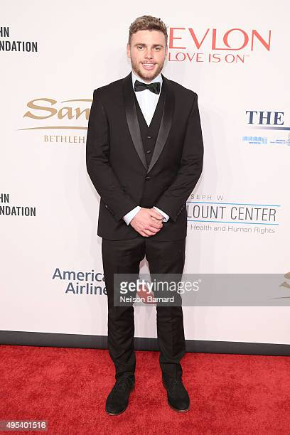 Freestyle skier Gus Kenworthy attends Elton John AIDS Foundation's 14th Annual An Enduring Vision Benefit at Cipriani Wall Street on November 2 2015...