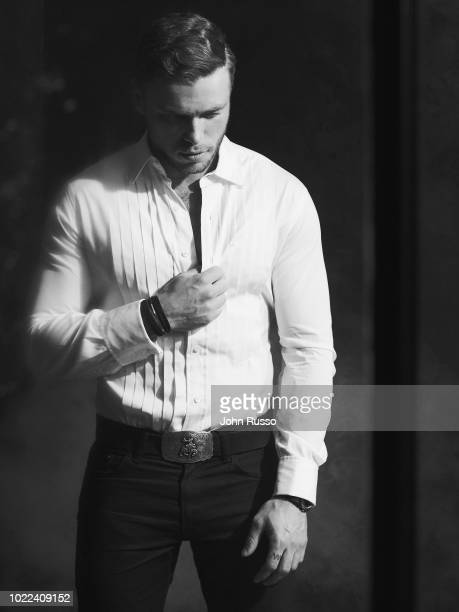 Freestyle skier Gus Kenworthy is photographed for GIO Journal on November 16 2017 in Los Angeles California
