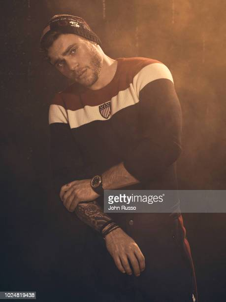 Freestyle skier Gus Kenworthy is photographed for Man of Metropolis magazine on November 16, 2017 in Los Angeles, California.