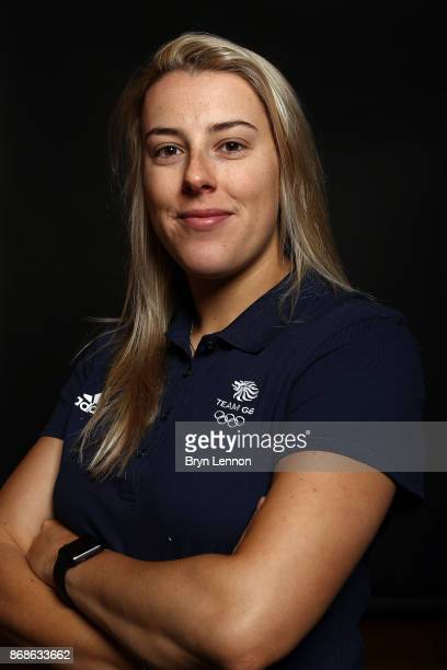 Freestyle skier Katie Summerhayes of Great Britain poses for a photo during the British Ski and Snowboard Media Day on October 31 2017 in Hemel...