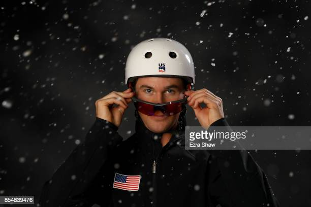Freestyle Skier Mac Bohonnon poses for a portrait during the Team USA Media Summit ahead of the PyeongChang 2018 Olympic Winter Games on September 27...