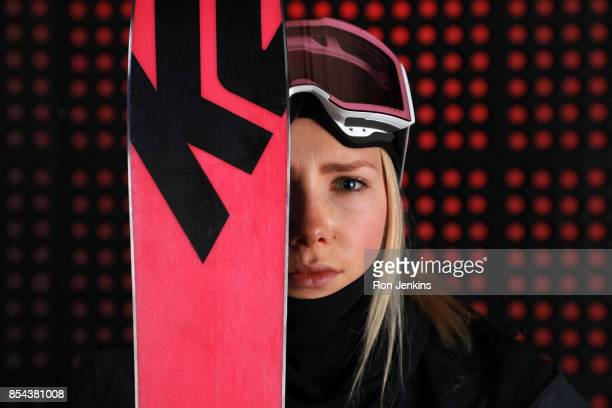 Freestyle Skier Maggie Voisin poses for a portrait during the Team USA Media Summit ahead of the PyeongChang 2018 Olympic Winter Games on September...
