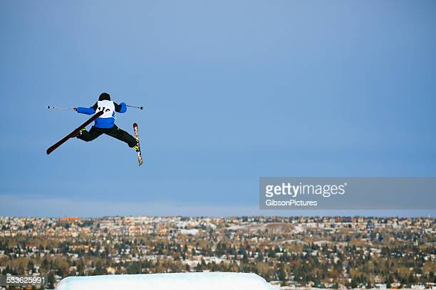 freestyle skier - big air bildbanksfoton och bilder